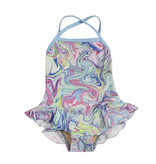 Cruz Ruffle Swirl Infant 1pc Swimsuit
