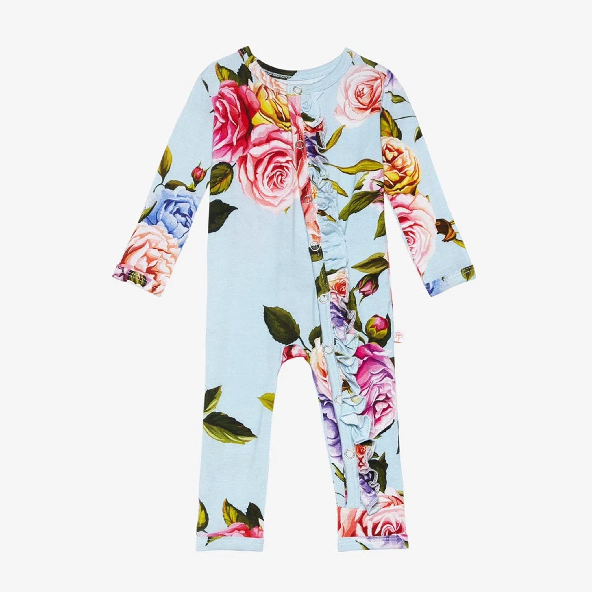 Posh Peanut Country Rose Ruffle Snap Coverall