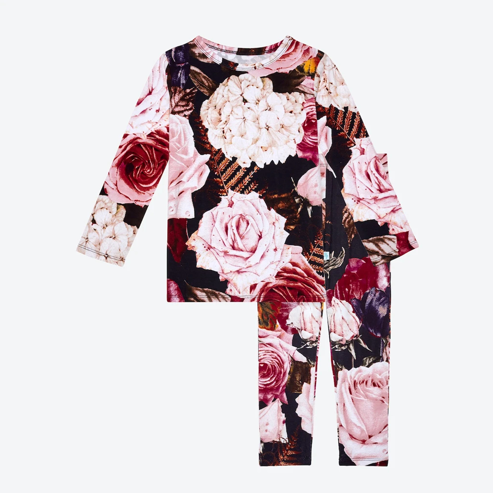 Posh Peanut Zoey Floral Two Piece Loungewear Set