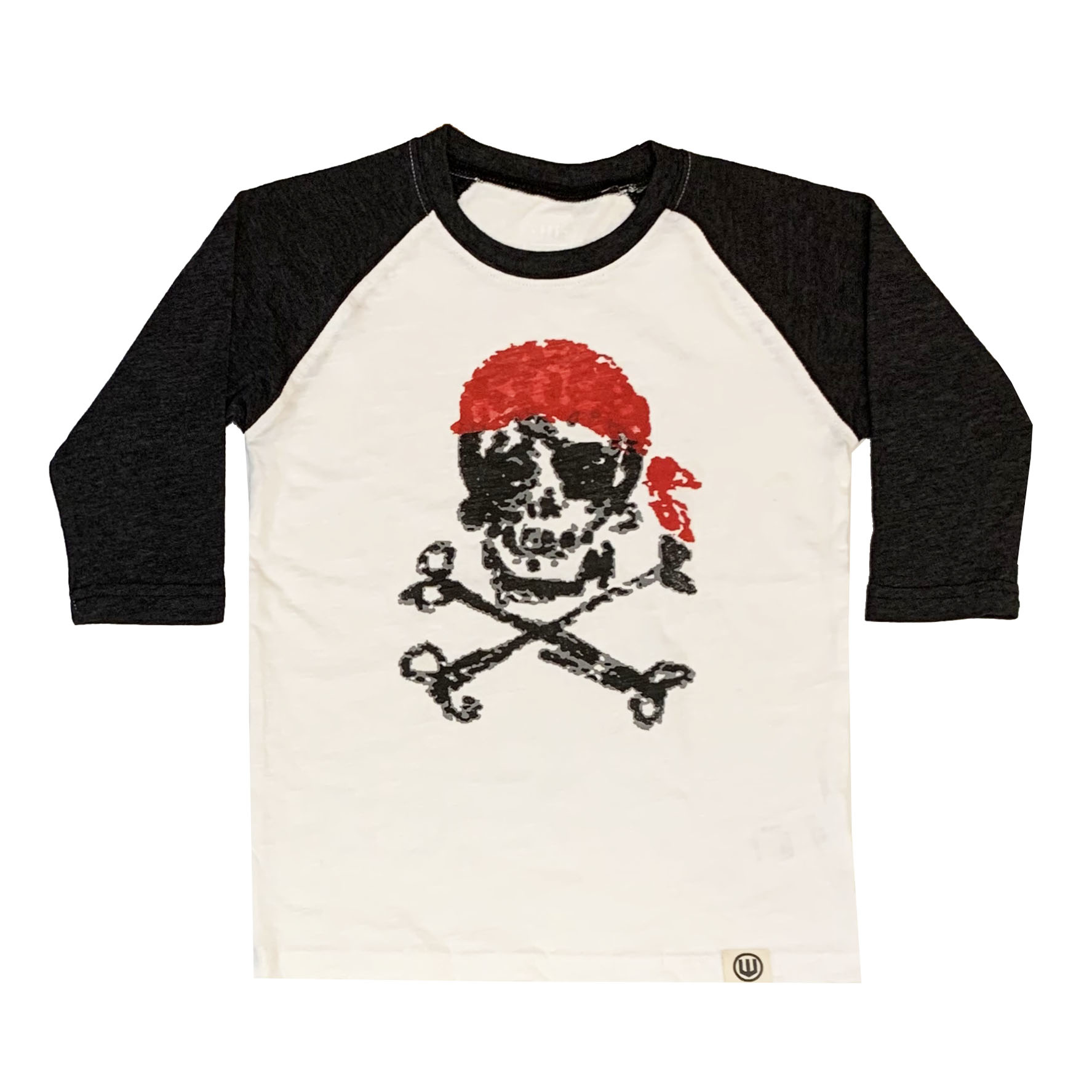 Wes & Willy Pirate Skull Raglan Top