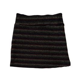Les Tout Petits Metallic Stripe Banded Skirt