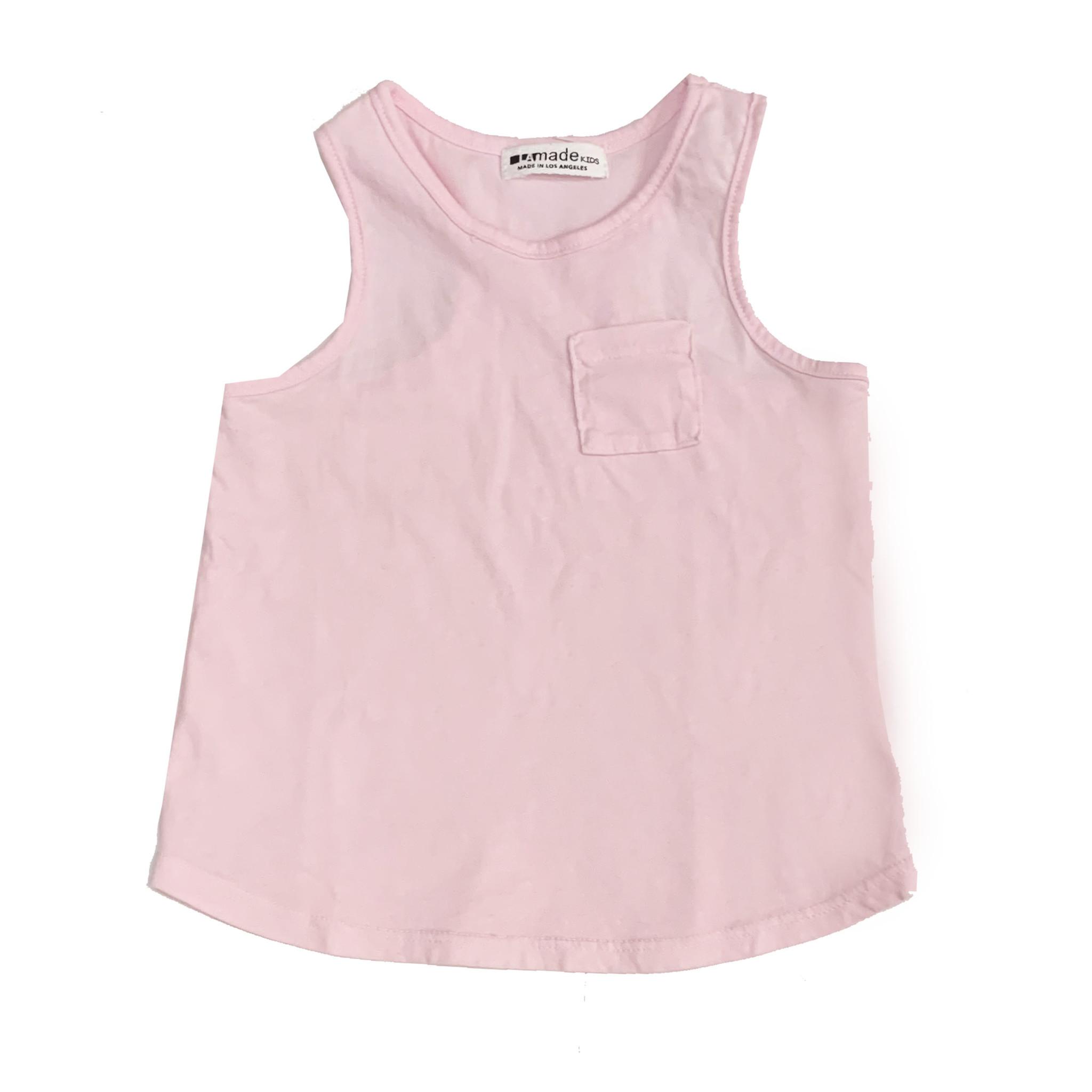 LA Made Ballet Pink Basic Pocket Tank