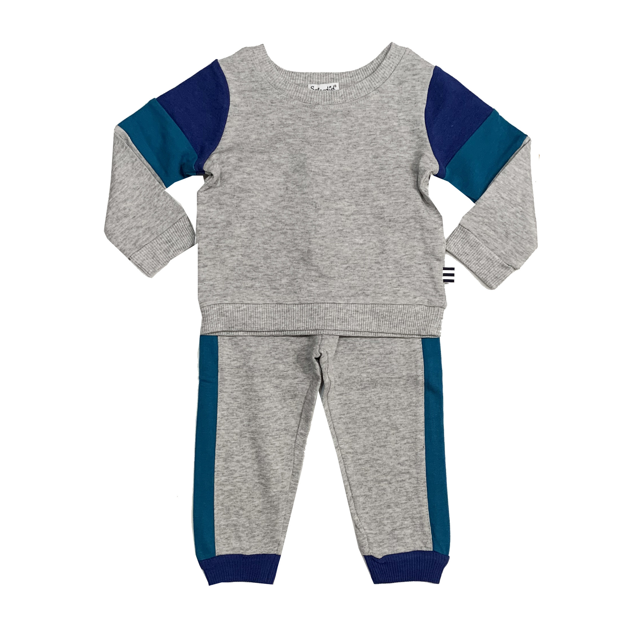 Splendid Grey & Blue Sweatsuit