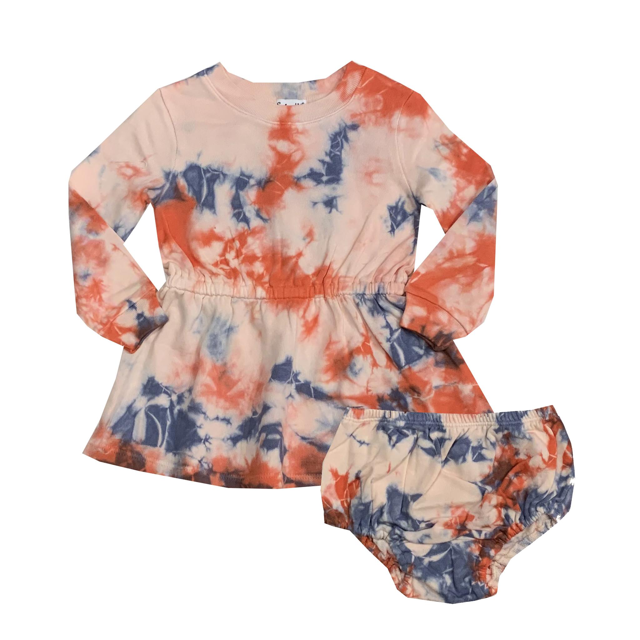 Splendid Tie Dye Dress & Diaper Cover Set