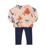 Splendid Tie Dye Sweatshirt with Blue Leggings