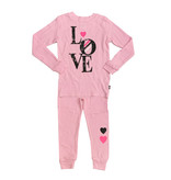 Light Pink Love Block Thermal Pajamas