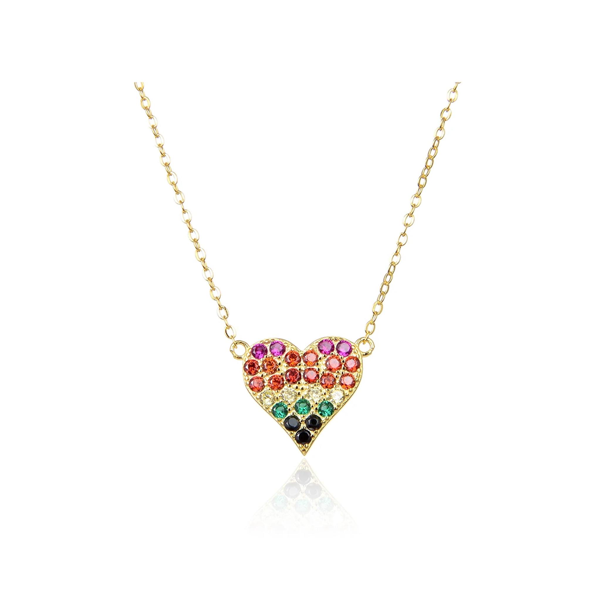 Multicolor Heart Necklace