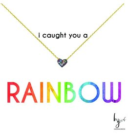 Mini Rainbow Heart Necklace