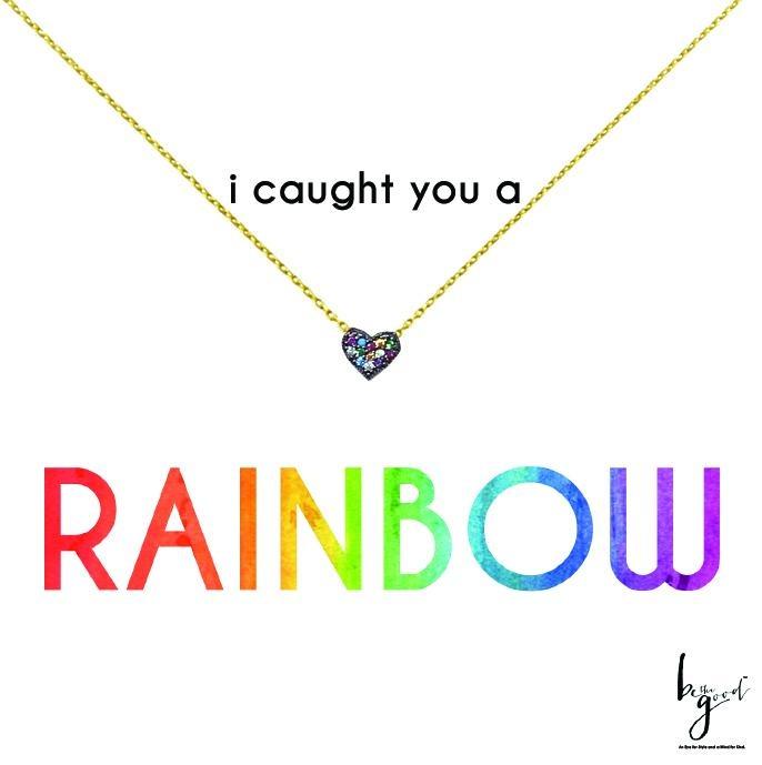 Mini Rainbow Heart Necklace