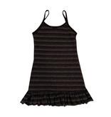 Les Tout Petits Metallic Stripe Ruffle Dress