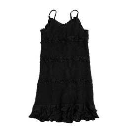 Flowers by Zoe Black Ruched Ruffle Dress