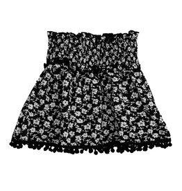 Flowers by Zoe Floral Print Ruched Skirt
