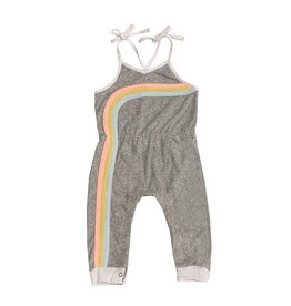 Miki Miette Rainbow Terry Cloth Jumpsuit