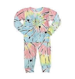 Flowers by Zoe Tie Dye Infant Sweatsuit with Hearts