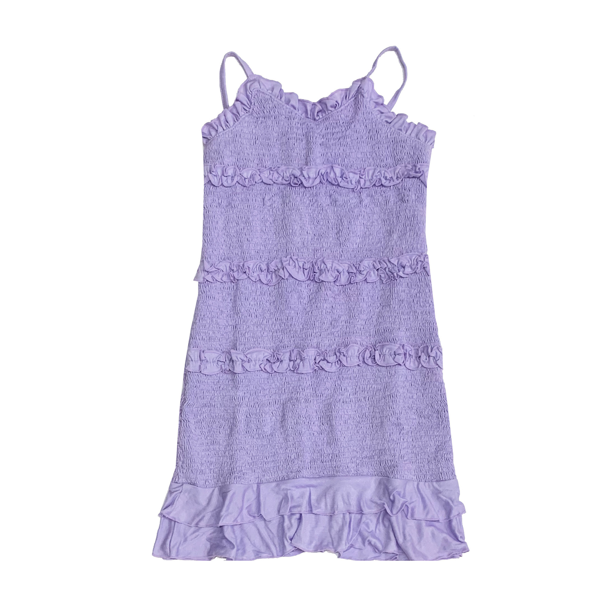 Flowers by Zoe Lavender Ruched Ruffle Dress