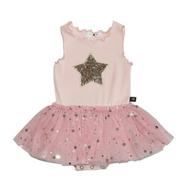 Petit Hailey Pink Daisy Star Tutu Tank Dress