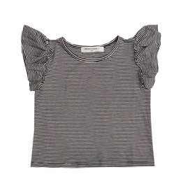 Project Social T Striped Ruffle Sleeve Tee