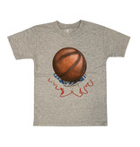 Wes & Willy Grey Basketball Tee