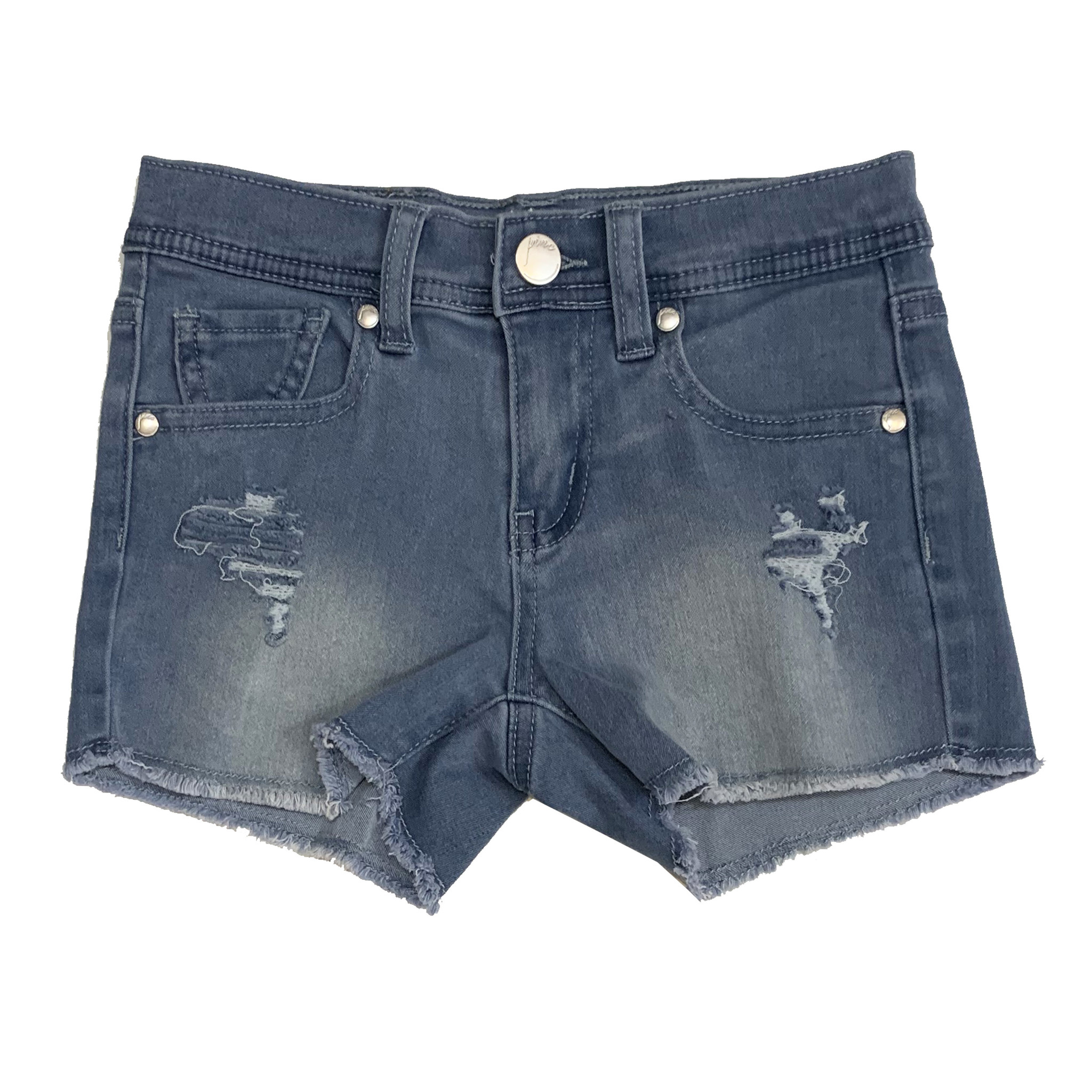 Pinc Light Wash Ripped Denim Shorts