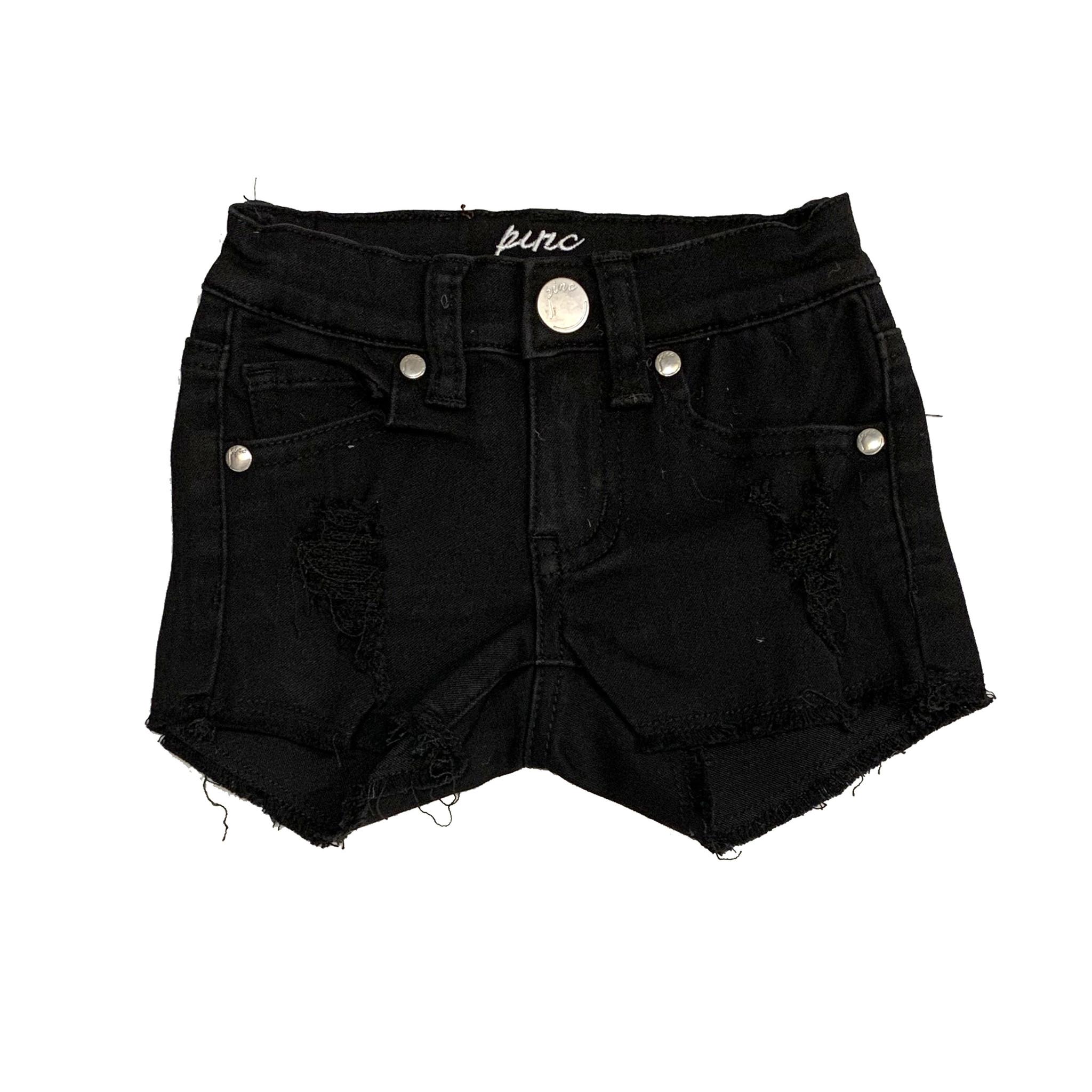 Pinc Black Ripped Denim Toddler Shorts