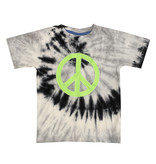 Mish Black Tie Dye Lime Peace Tee