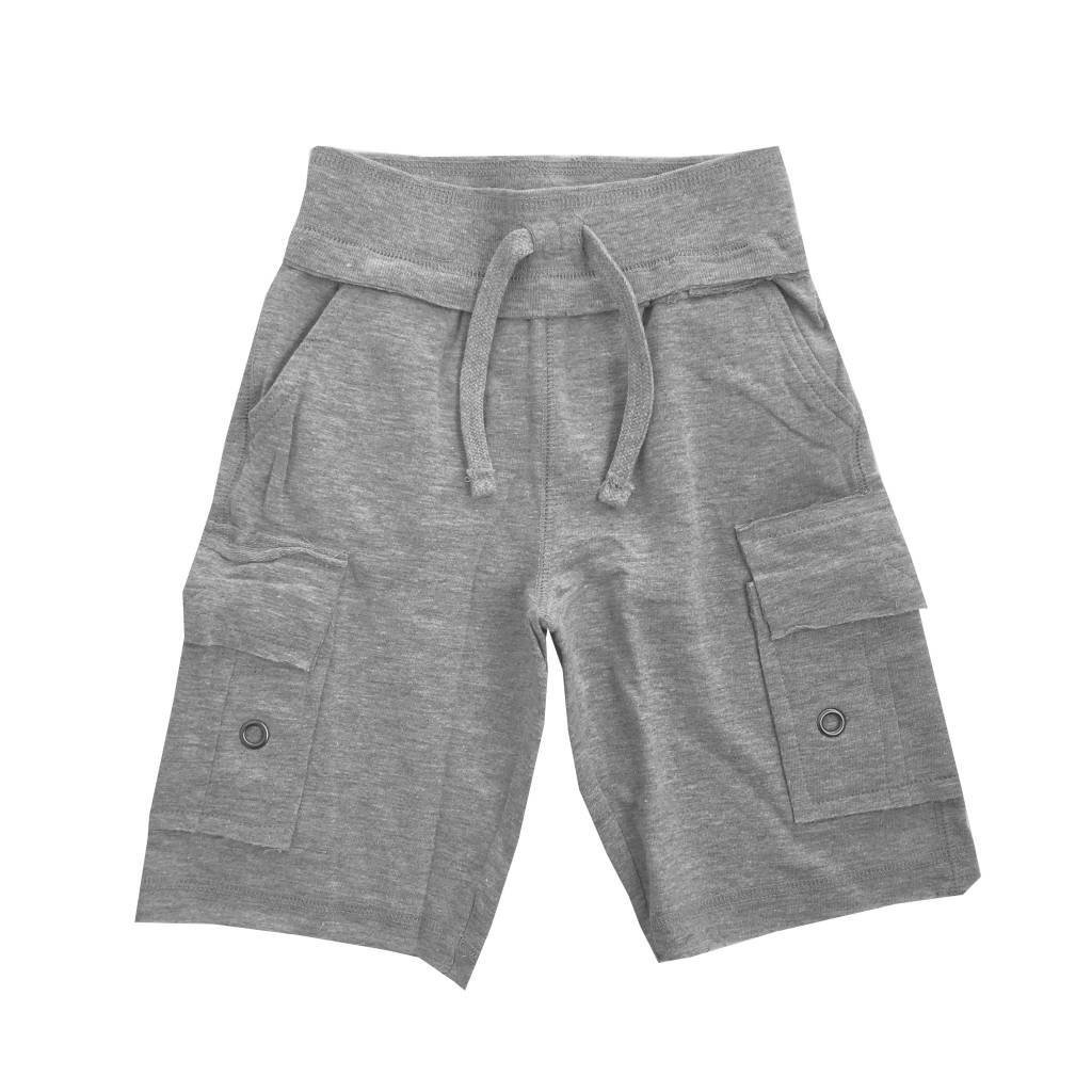 Mish Solid Grey Cargo Infant Shorts