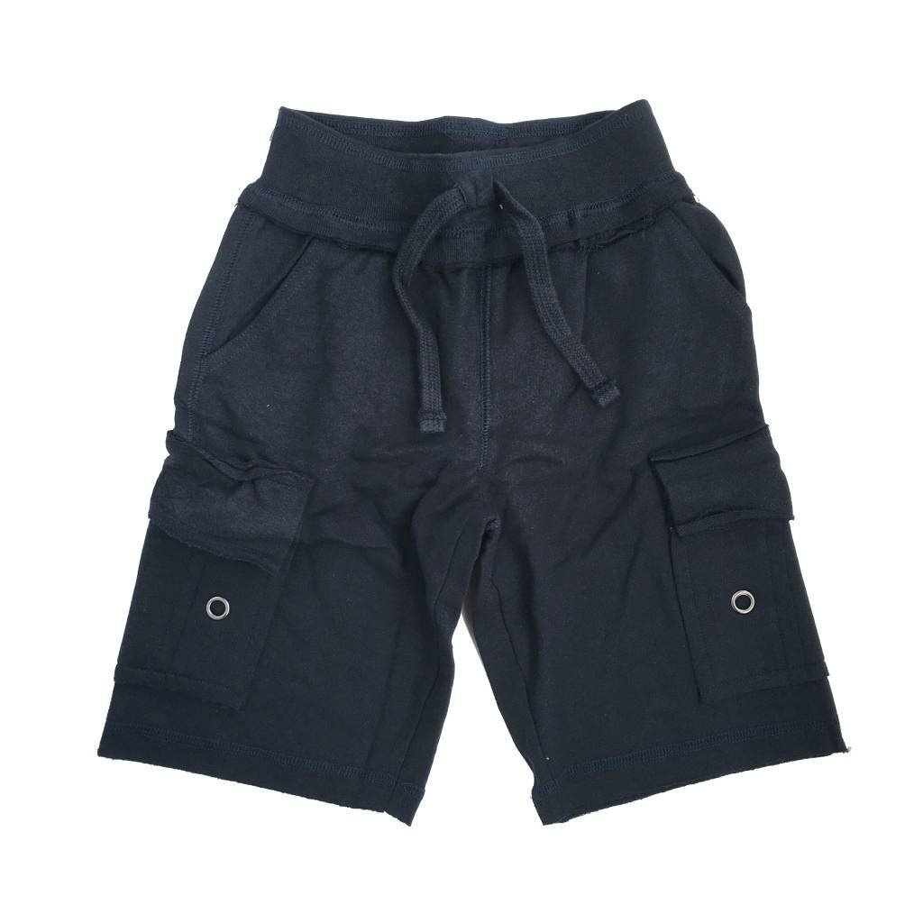 Mish Solid Navy Cargo Infant Short