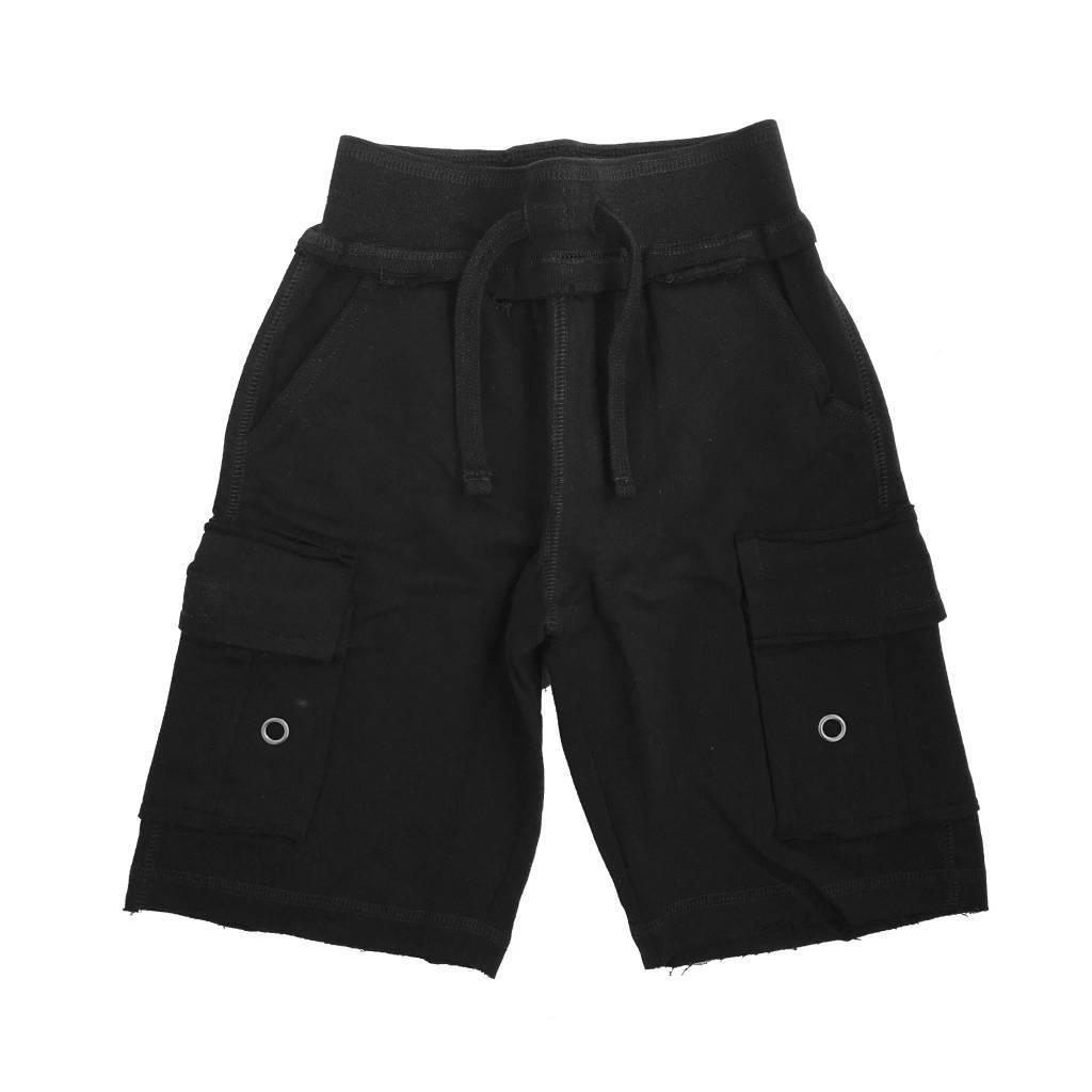 Mish Solid Black Cargo Short