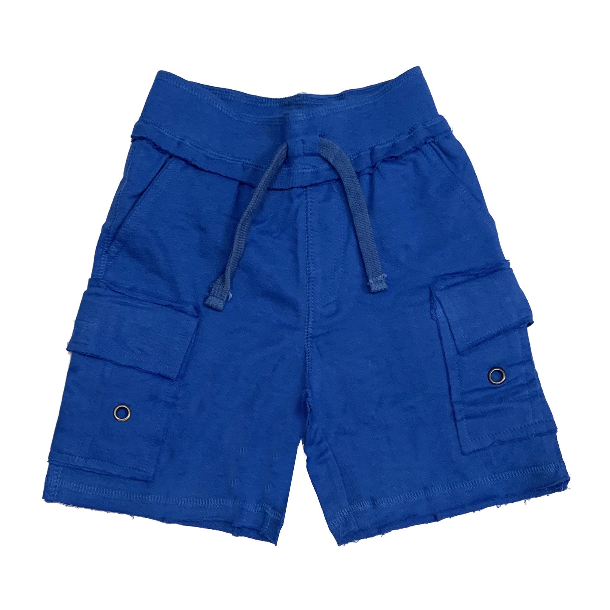 Mish Solid Cobalt Cargo Infant Shorts