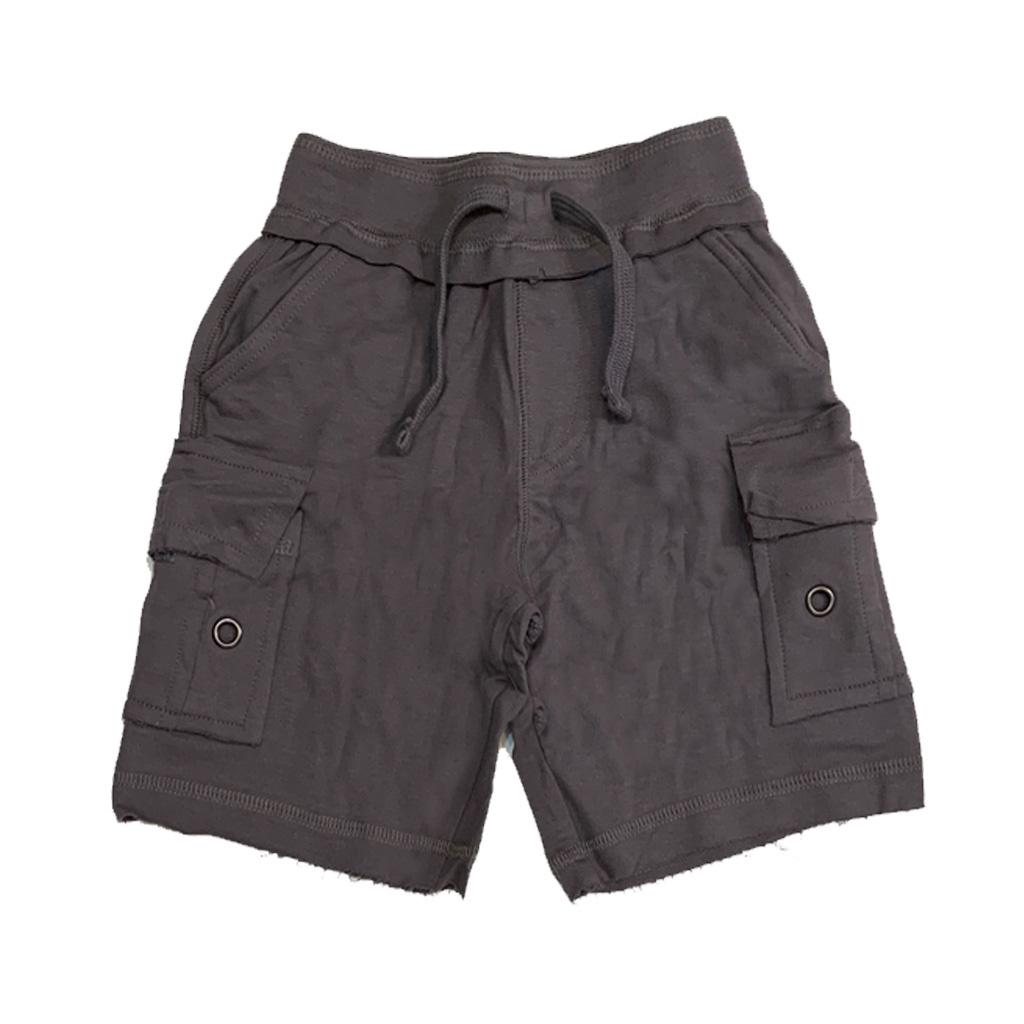 Mish Solid Coal Cargo Infant Shorts