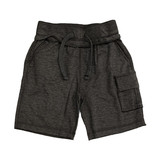 Mish Distressed Black Cargo Short