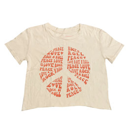 Rowdy Sprout Peace Love Crop Tee