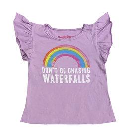 Rowdy Sprout Rainbow Waterfalls Ruffle Sleeve Tee