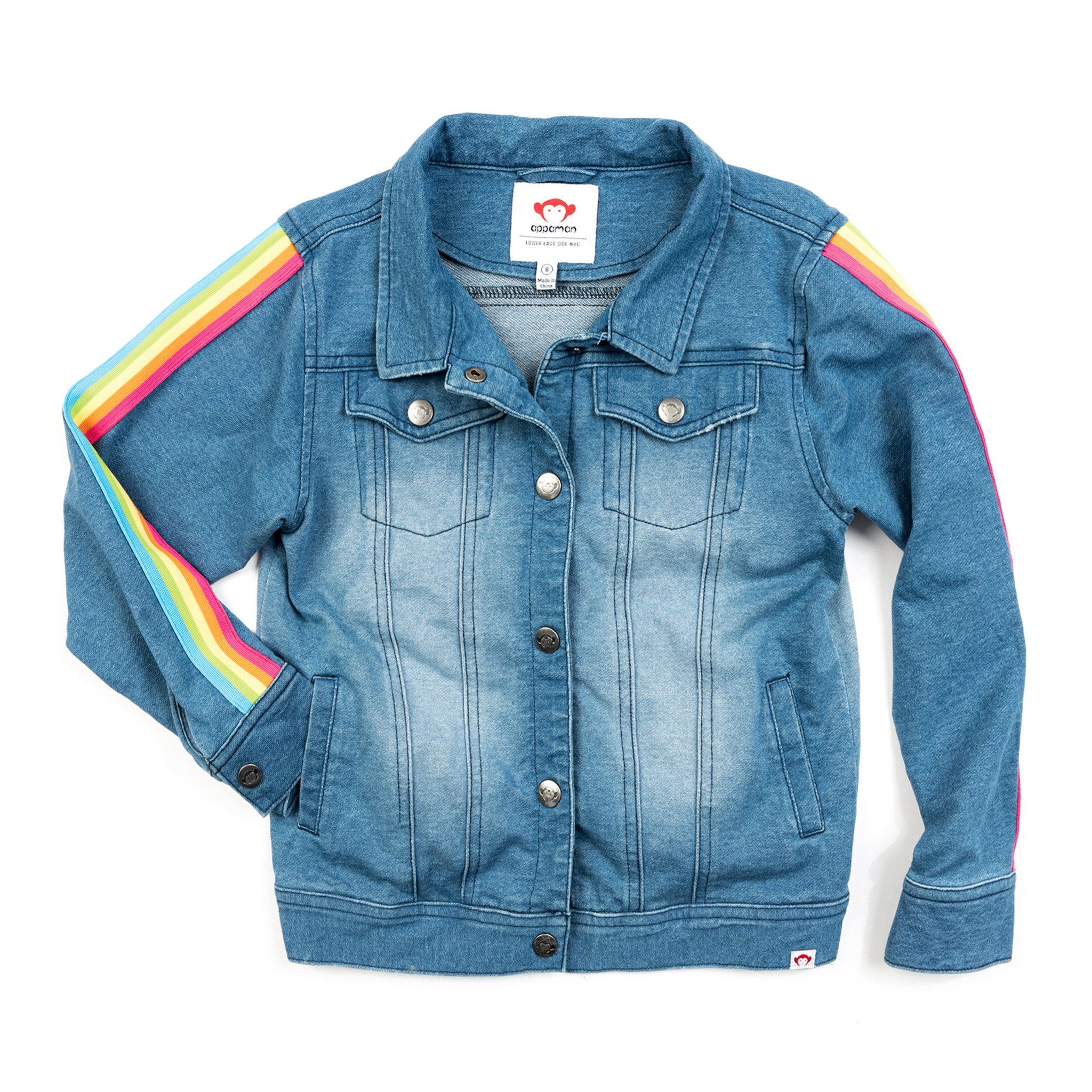 Appaman Rainbow Trim Denim Jacket