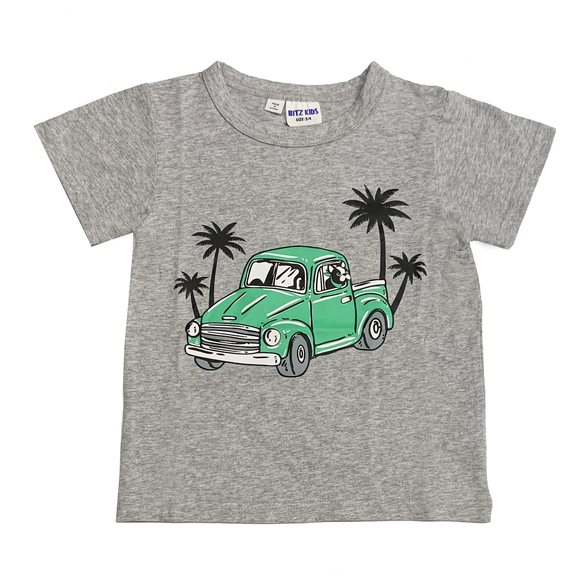 Bit'z Kids Green Truck Infant Tee