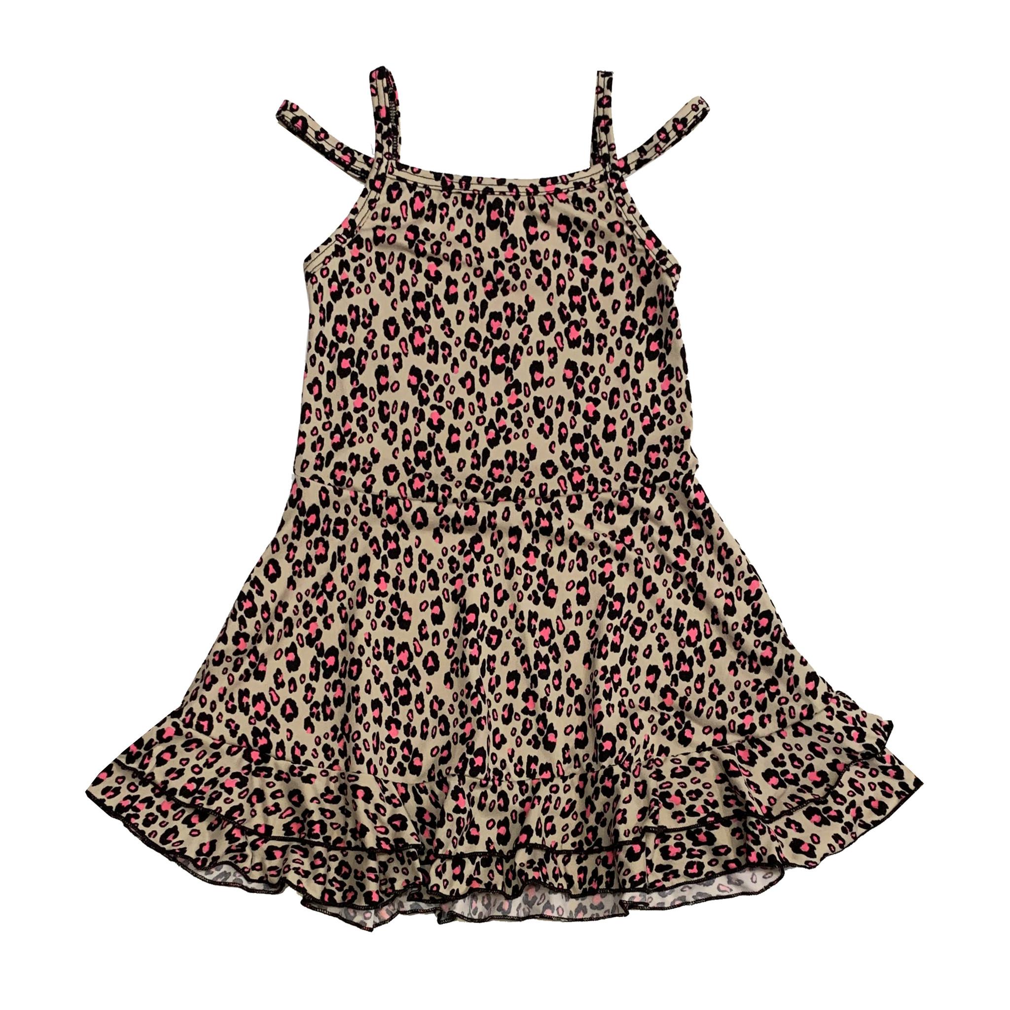 Sofi Leopard Print Cold Shoulder Dress