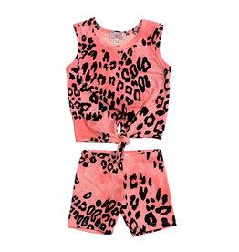 Sofi Pink Cheetah Infant Knot Tank Set