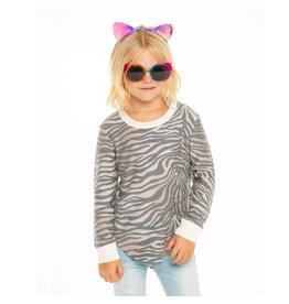 Chaser Zebra Print Sweatshirt