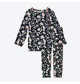 Posh Peanut Lina Floral Two Piece Loungewear Set