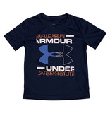 Under Armour Navy & Orange Logo Tee