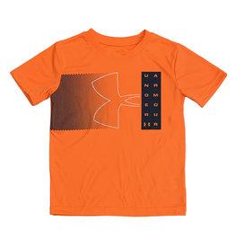 Under Armour Neon Orange Logo Tee