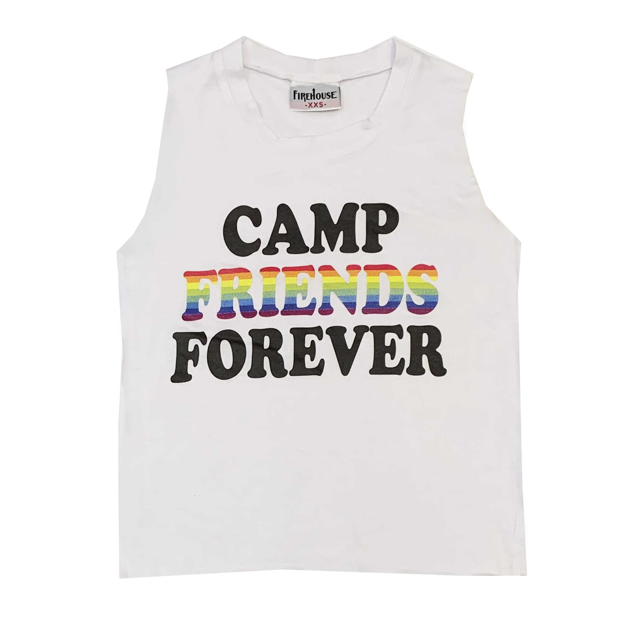 Firehouse Camp Friends Forever White Tank