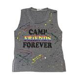 Firehouse Camp Friends Forever Grey Splatter Tank