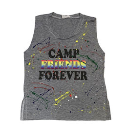 Firehouse Camp Friends Forever Grey Splatter Tank