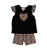 Sofi Leopard Print Infant Bike Short Set