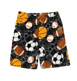 Confetti Grey Sports Plush Lounge Shorts