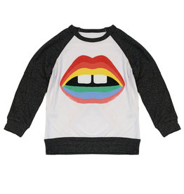 Lauren Moshi Rainbow Mouth Pullover