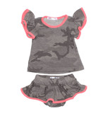 Joah Love Grey Camo Ruffle Set