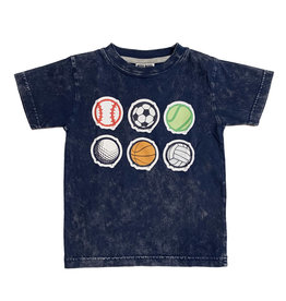 Mish Infant Navy Enzyme Sports Balls Tee