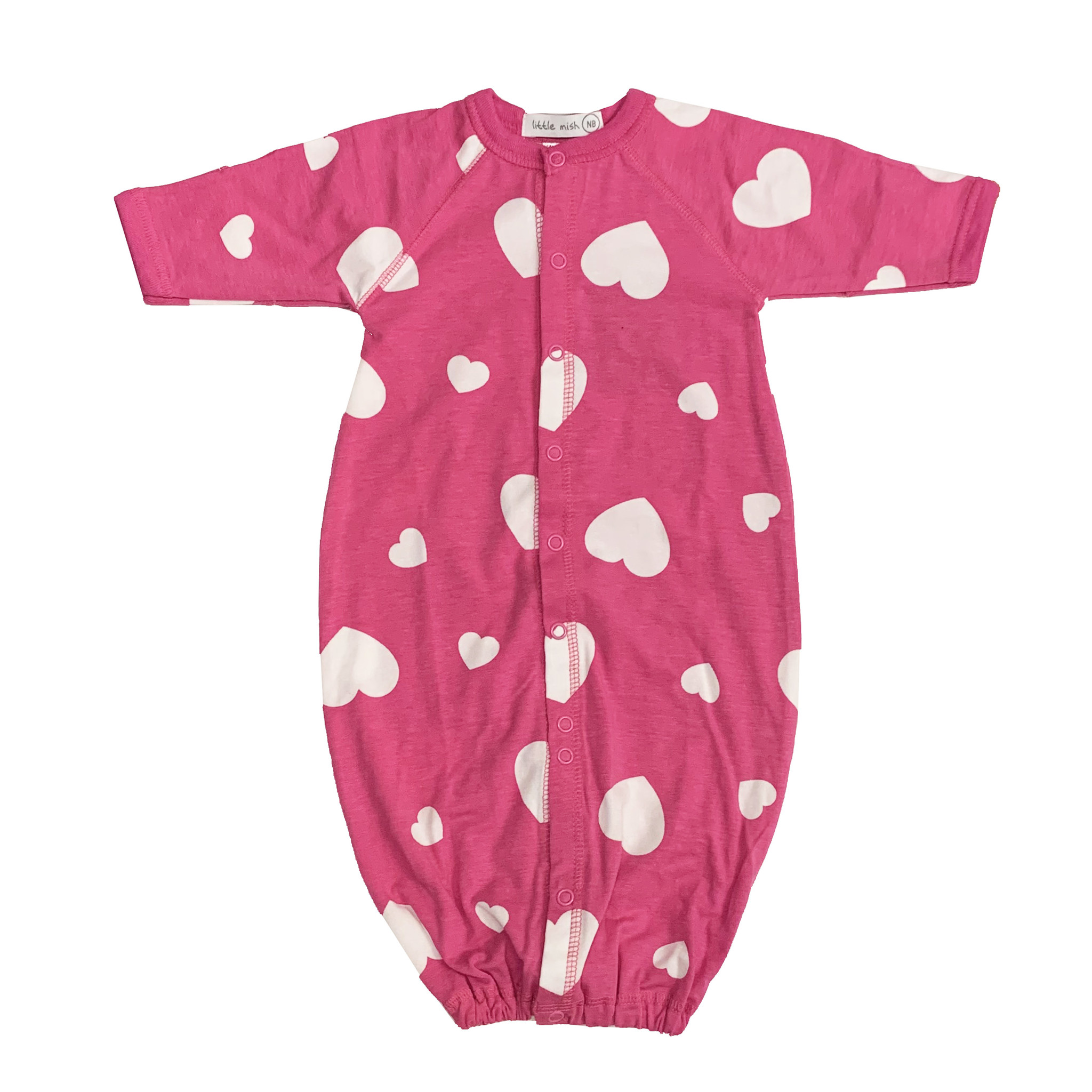 Little Mish Bubblegum Hearts Converter Gown
